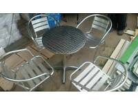 Aluminium Chairs and Table