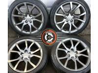 "18"" Genuine Audi alloys refurbished Anthracite Grey Metallic, excellent tyres."