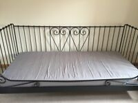 Day black bed with mattress