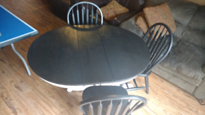 Kitchen table dining refurbished black and white
