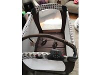 Graco Electra Travel Cot - Apples. Like new - only used once