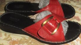 red pavers shoes size 8