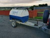1000 litre towable water bowser tank trailer galvanised tank
