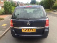 Vauxhall Zafira 1.6 i 16v Life 5dr 2007 7 Seater 12 Months MOT Service History
