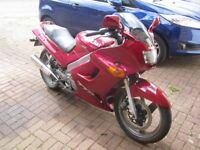1993 Kawasaki ZZR 250 Red Full Year's MOT