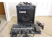 Laney HCM30B Bass Guitar Amplifier and Boss GT-8 Guitar Pedal BIG BUNDLE GREAT CONDITION