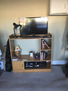 Maple colour wood Book case and TV stand with drawer
