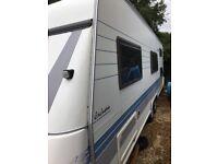 Hobby caravan for sale with bunkbeds. Lmc