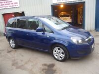 Vauxhall ZAFIRA Exclusiv CDTI Ecoflex,7 seat MPV,1 previous owner,2 keys,FSH,low mileage,only 38k