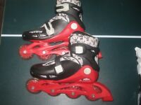 Childrens Inline Skates Size 13-2 adjustable