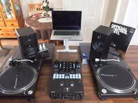 Pioneer DJM S9 + Pioneer PLX-1000 + M audio BX5 D2 + Stanton Uberstand & more