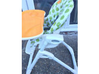 JOIE High Chair with tilt and height adjustment