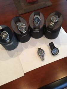 Men's Citizen Eco Drive Watches $250 Each. Text or email offers.