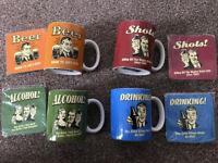 4 brand new mugs and matching coasters