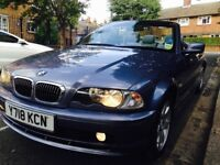 "SUPER MINT BMW 320 CI CONVERTIBLE""""FULL BMW HISTORY""""3 OWNERS""""BARGAIN!!!"