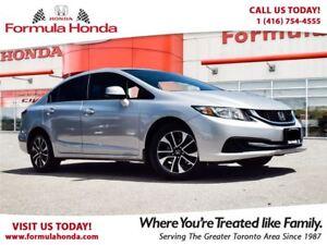 2014 Honda Civic Sedan EX | HEATED SEATS | SUNROOF | LOW KM!