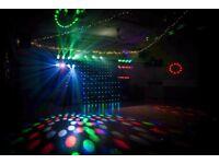 Disco Lighting Rig including Chauvet Motion Drape & Trussing