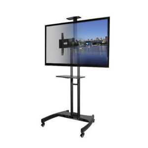TV STAND ON WHEELS WITH BUILT IN TV MOUNT