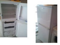 WHIRLPOOL FRIDGE FREEZER 54.5 INCHES HIGH X 21.5 WIDE GOOD WORKING ORDER CAN BE SEEN WORKING