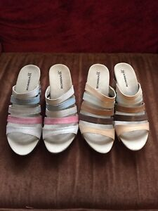 Ladies Romika wedge shoes size 10 2 pairs