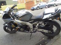 Kawasaki Ninja ZX6R – 1999 V reg. 41000 miles 8 months MOT. Taxed. Everything works