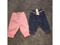 Baby girl ladybird trousers