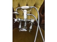 Bensham 1885 crome mixer tap with shower