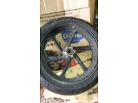 Honda fireblade 1996 rrt front wheel. In useable condition.