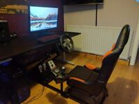 Logitech G25 Steering wheel set plus FK Automotive simulator seat.