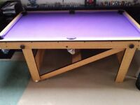 6ft x 3ft 3'' Fold up Pool & Ping Pong Table - Ideal for a Gaming Table with a bit of work.