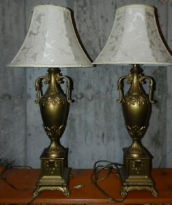 Twin table lamps