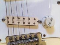 White Fender Stratocaster