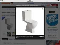 Neroli closed coupled toilet with soft close seat