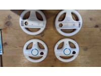 4x Nintendo Wii Steering Wheels for games