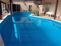 Fabulous Holiday with exclusive use of private pool and games room in Poitou Charentes France