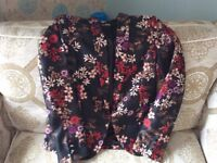 Monsoon Floral Jacket - Size 12