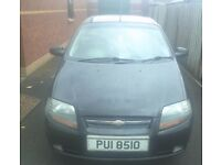 Chevrolet Kalos, Black, Good Condition, MOT'd May 18, £850 ONO.
