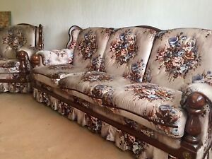Price reduced! Couch and swivel chair