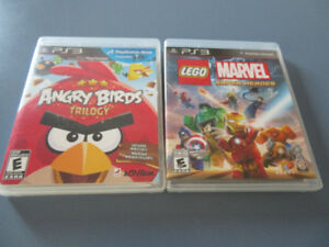 PS3 Games - Angry Birds Trilogy & Lego Marvel Super Heroes