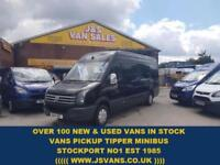2014 14 VOLKSWAGEN CRAFTER 2.0 CR35 TDI H/R P/V 1D 136 BHP PANTHER BLACK REAR TA