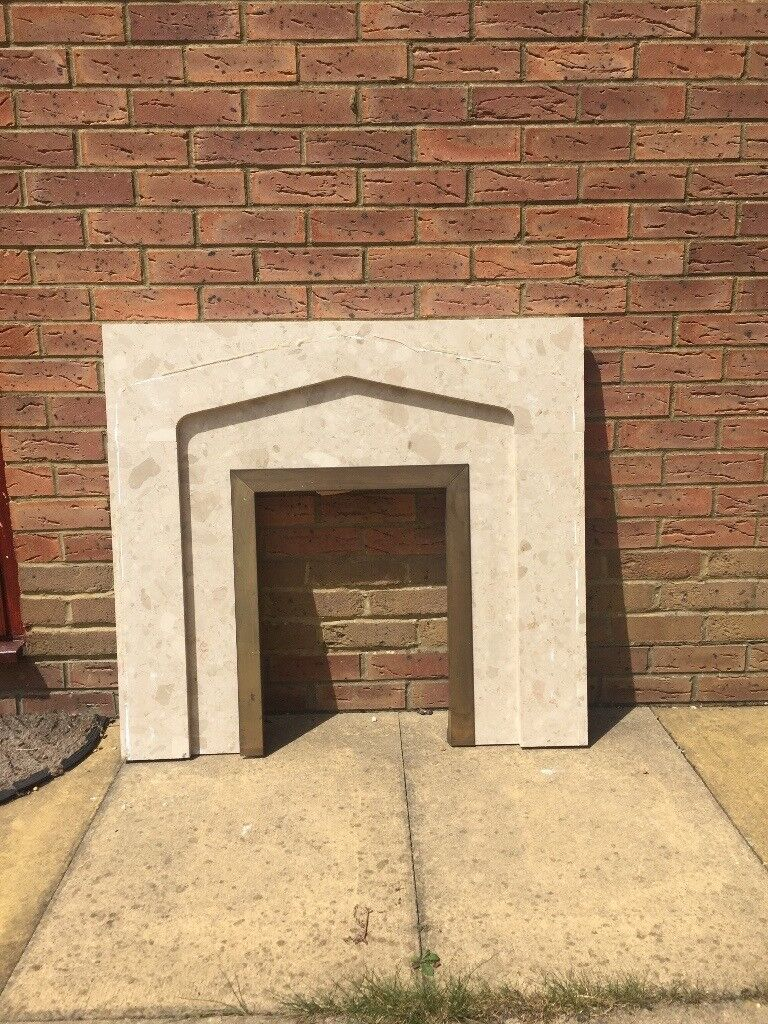 marble fireplace surround and hearth in kingsnorth kent gumtree