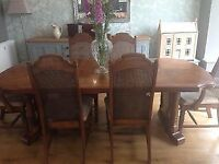 Dining table with 2x inner leaves, seats up to 8. Chairs not included, only £45