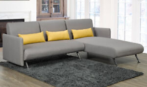 Brand new 2 pcs contemporary grey sectional sofa Bed $748 only!!