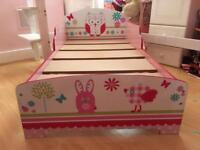 Girl's toddler bed frame
