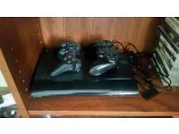 PS3 SUPER SLIM 500Gb Charcoal black and games