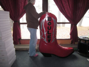 GIANT COWBOY BOOT - STORE DISPLAY
