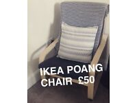 Ikea Poang Arm Chair £50 Excellent Condition