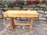 Hand Made Rustic Pine Bench