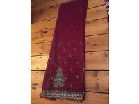 Deep plum saree only £20