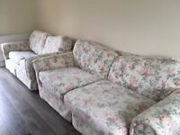 Floral 2 seater sofa/ sofa bed